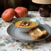 Суп з гарбуза з копченою куркою та лисичками (350г)