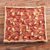 Pizza tradicional de jamón y piña (grande)