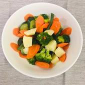 Varietà di verdure bollite