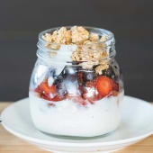 Frutas con yogurt