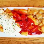 Patatas tres salsas (2 personas)