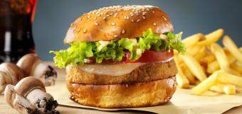 Veggie swiss burger