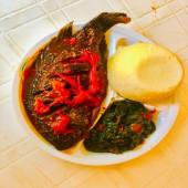 Half Tilapia Fish Wet Fry with Ugali