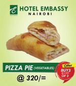 Buy 2 vegetable pizza pies Get 1 Free