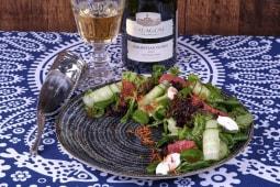 Салат з козячим сиром та грейпфрутом (175г)