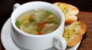 Chicken & Vegetables Clear Soup