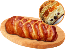 Пиріг з сиром та ізюмом (200г)