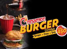 Burger+ Chips+ 350ml soda