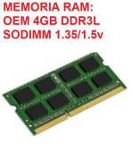 Memoria Ram Ddr3 4gb 1600MHz Para Laptop DUAL VOLTAGE 1.35v/1.5v