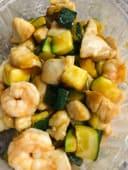 65.Pollo, gamberetti e zucchine