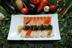 Рыбная нарезка семга, эсколар
