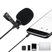 Microfono De Solapa Celular Entrevista Condensador Sujetador