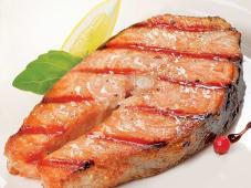 Стейк з лосося на грилі (100г)