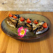Crostini de Cogumelos Portobello