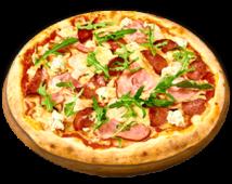 Піца м'ясна з сиром Дор Блю