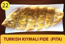 Turkish kiymali pide - pita