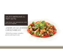 Salata americana cu piept de pui
