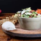 Salmon bufala salad