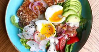 Салат з хрумкою курочкою (250г)