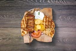 Meniu pentru copii souvlaki de pui cu bacon
