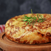 Tortilla de patatas con chorizo (mediana)