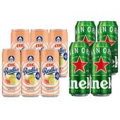 6x Ciuc Radler Citrice si Menta FARA ALCOOL 330ml + 4X Heineken doza