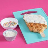 Waffle con crema de chocolate blanco