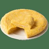 Tortilla de patata con jamón york y queso (500 g.)