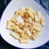 Pasta rigatone 4 quesos y nueces