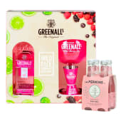 Greenall'S Wild Berry 750 Ml  Pack + Fourpack Mr Perkins Pink Tonic