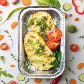 Картофельные лодочки с куриным филе и грибами