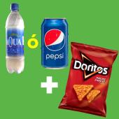 Bebida (330 ml.) + Doritos