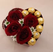 Box Rose Rouge + Chocolat