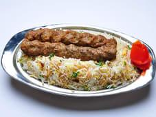 Kebab meat & rice basmati