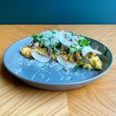 Ніжнесенький омлет з запеченими грибами та крем-сиром (250г)