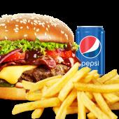 Meniu  American BBQ Burger de vită