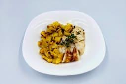 Filetto di merluzzo con patate a cubetti
