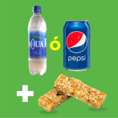 Bebida (330 ml.) + barra de granola