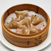 #108 Dumpling relleno de carne y verduras envuelto en boniato