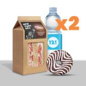 Lunch box: tramezzini,  acqua e donut x2