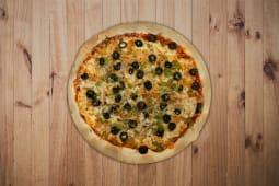 14. Atum, Cebola, Pimentos e Azeitonas Pequena (26,5cm)