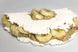 Tapioca de Banana e Doce de Leite Fit