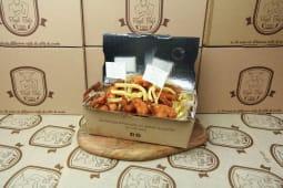 Straccetti di pollo con patate stick