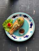 Стейк з білої риби з овочами (100г)
