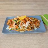 Pad Thai kozice grill wok rižini rezanci s povrćem