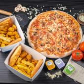 ქათმის მიქს კალათა + ქათმის XL კალათა + დიდი პიცა