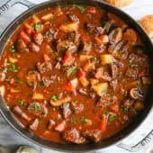 Beef Stew served with Ugali, White Rice or Chapati