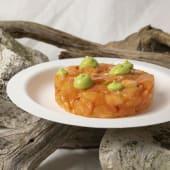 Tartare di salmone con mela e crema di avocado
