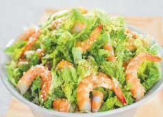 Salade de Choux au Crevettes