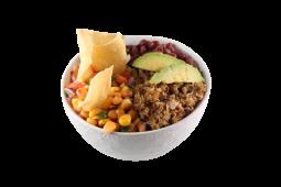 Taco bowl y refresco